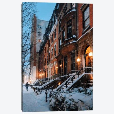 Snowy Night In Brooklyn Heights Canvas Print #DWK41} by Dylan Walker Canvas Wall Art