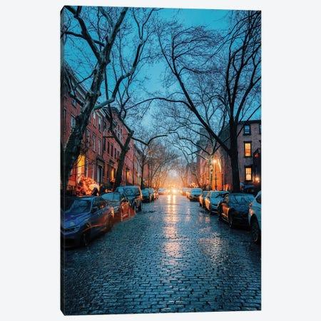 Rainy Cobblestone Streets In Brooklyn Canvas Print #DWK47} by Dylan Walker Art Print
