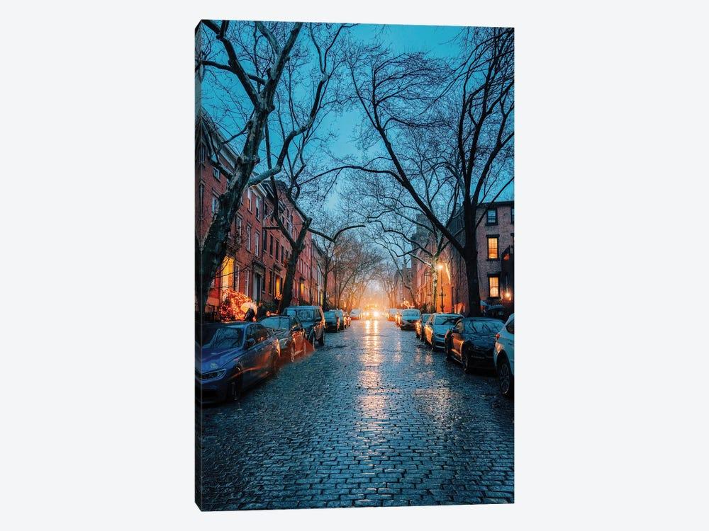 Rainy Cobblestone Streets In Brooklyn by Dylan Walker 1-piece Art Print