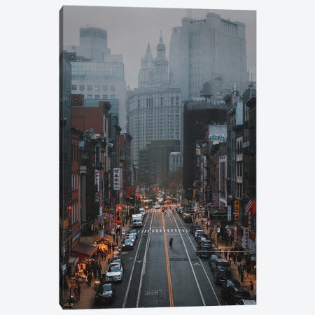 Moody Days In China Town Canvas Print #DWK52} by Dylan Walker Canvas Print