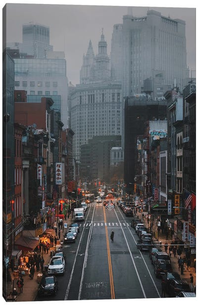 Moody Days In China Town Canvas Art Print