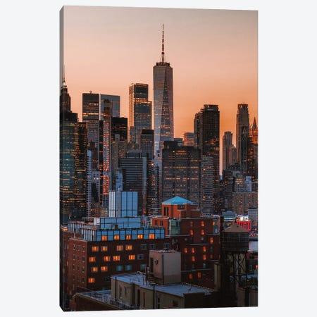 Manhattan Views From Brooklyn Roof Tops Canvas Print #DWK54} by Dylan Walker Canvas Wall Art