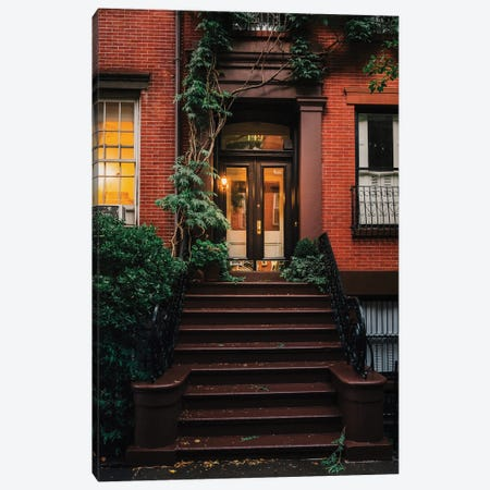 Spring Stoops In Brooklyn Canvas Print #DWK55} by Dylan Walker Canvas Wall Art