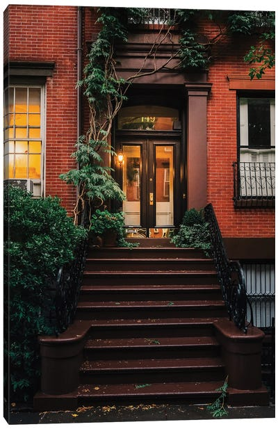 Spring Stoops In Brooklyn Canvas Art Print