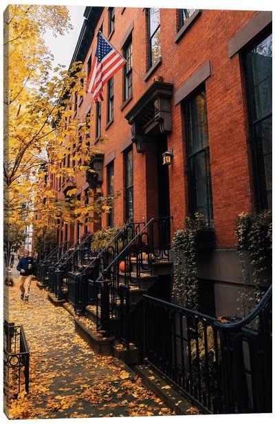 Fall Townhomes In Brooklyn Canvas Art Print