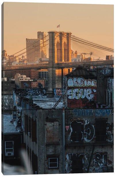 Brooklyn Bridge Graffiti Canvas Art Print