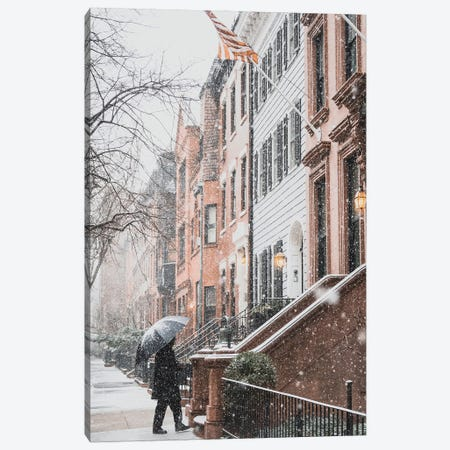 Brooklyn Heights During A Blizzard Canvas Print #DWK61} by Dylan Walker Canvas Wall Art