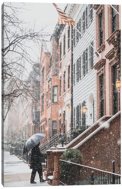 Brooklyn Heights During A Blizzard Canvas Art Print