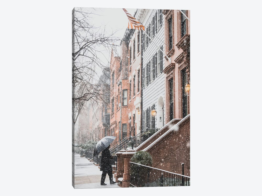 Brooklyn Heights During A Blizzard by Dylan Walker 1-piece Canvas Art Print