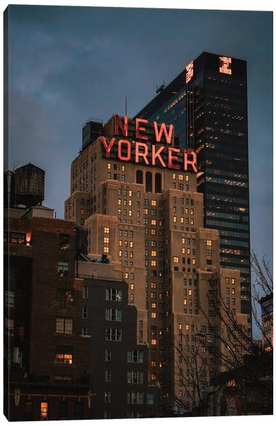 Blue Hour At The New Yorker Canvas Art Print
