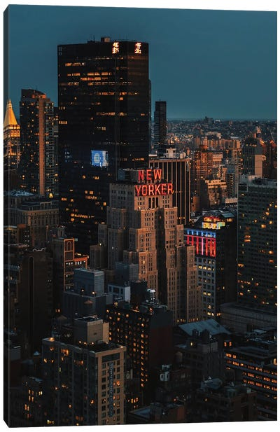 Night At The New Yorker Canvas Art Print