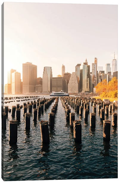 Fall Sunset On The East River Canvas Art Print
