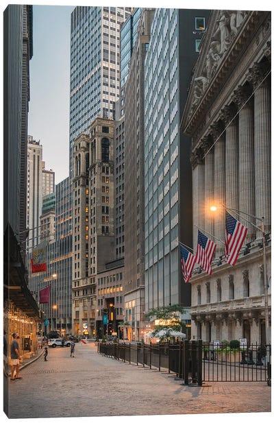 Quiet Night On Wall Street Canvas Art Print