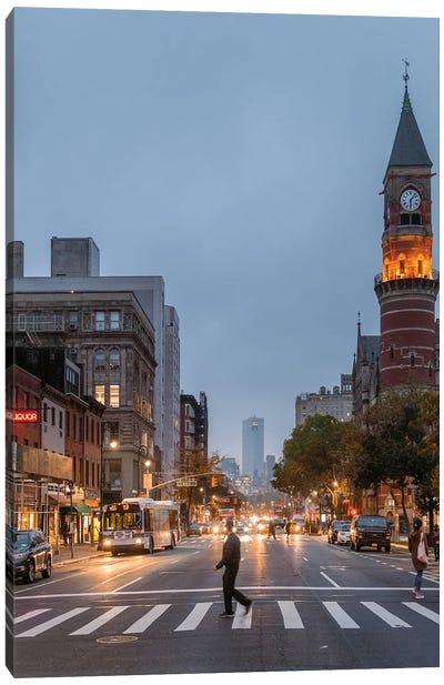 Evenings In Greenwich Village Canvas Art Print