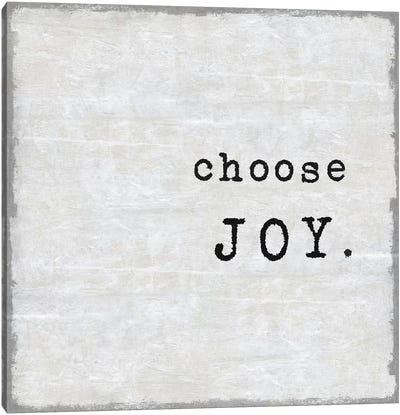 Choose Joy Canvas Art Print