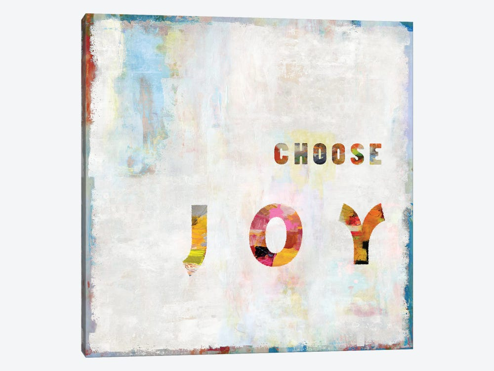 Choose Joy In Color by Janie Macdowell 1-piece Canvas Print