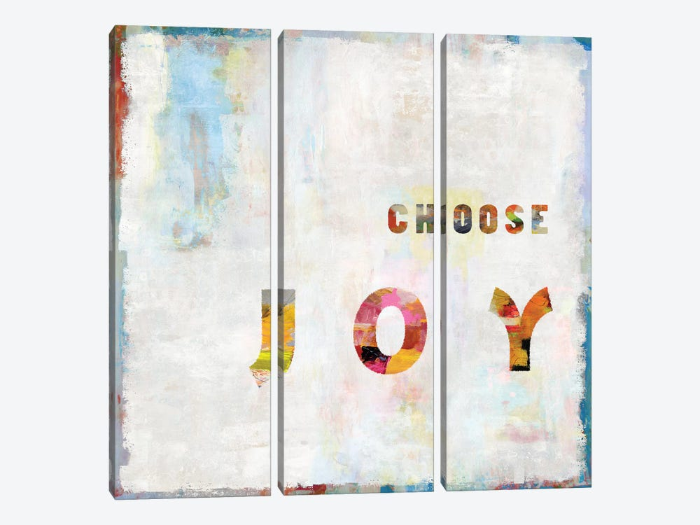 Choose Joy In Color by Janie Macdowell 3-piece Canvas Art Print