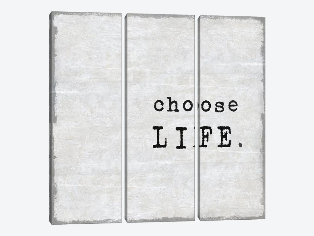 Choose Life by Janie Macdowell 3-piece Canvas Artwork