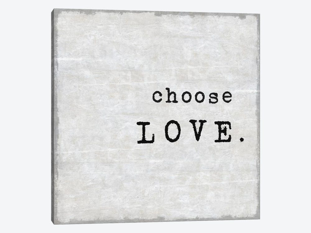 Choose Love by Janie Macdowell 1-piece Canvas Wall Art