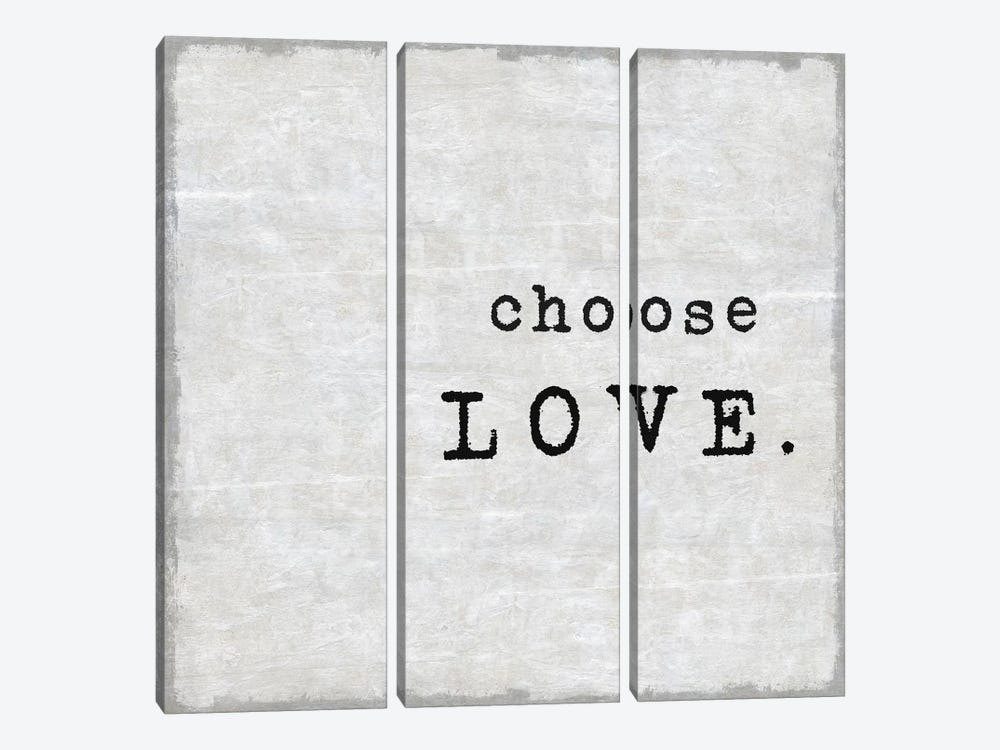 Choose Love by Janie Macdowell 3-piece Canvas Artwork