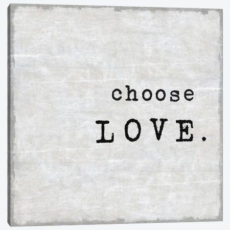 Choose Love Canvas Print #DWL14} by Jamie MacDowell Canvas Print