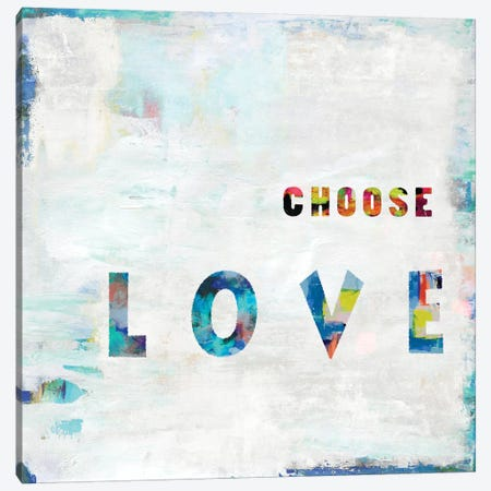 Choose Love In Color Canvas Print #DWL15} by Jamie MacDowell Canvas Art Print