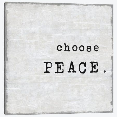 Choose Peace Canvas Print #DWL16} by Janie Macdowell Art Print
