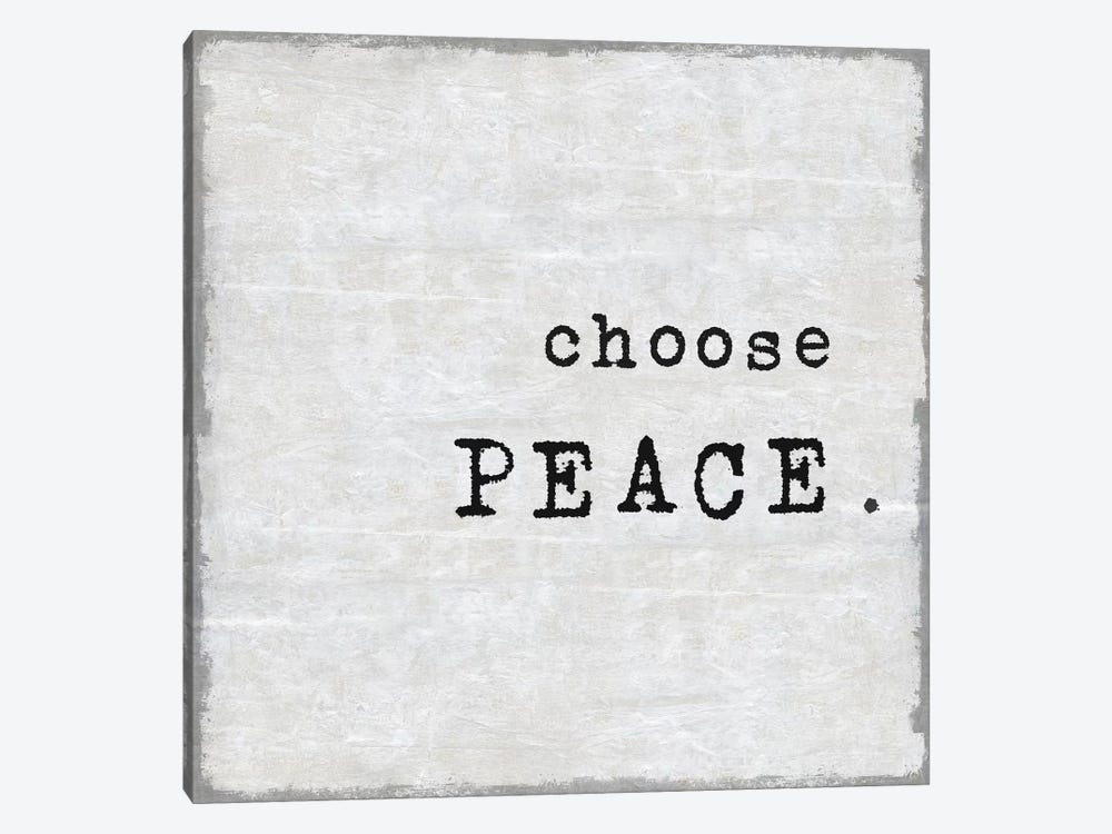 Choose Peace by Janie Macdowell 1-piece Canvas Wall Art