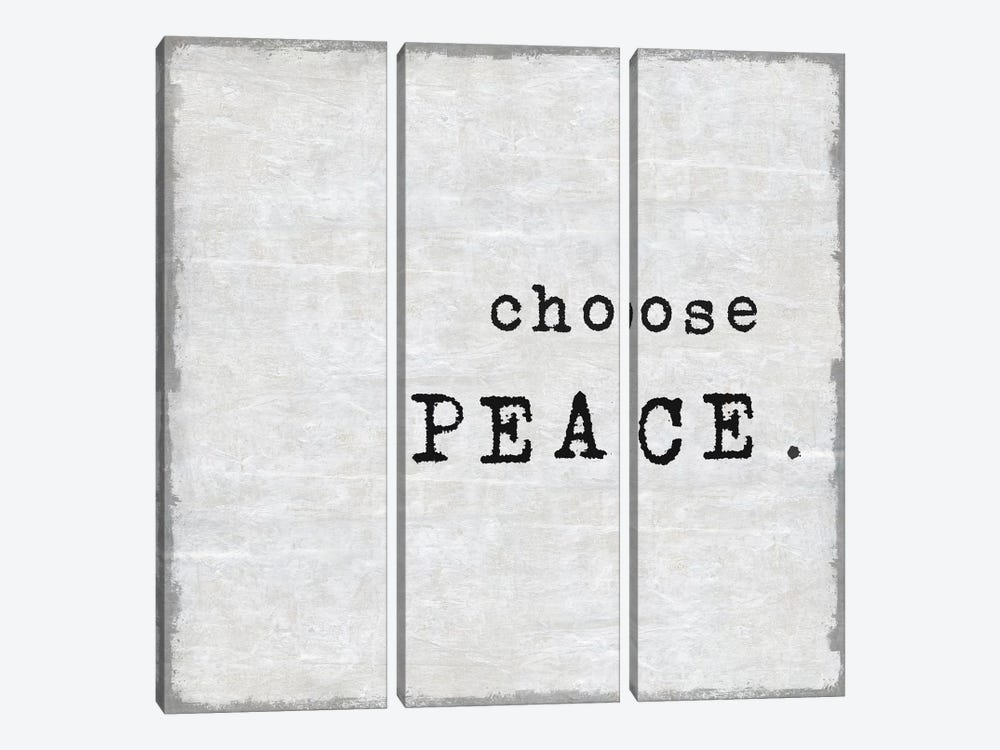 Choose Peace by Janie Macdowell 3-piece Canvas Artwork