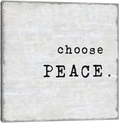 Choose Peace Canvas Art Print