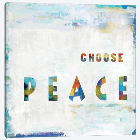 Choose Peace In Color Canvas Print #DWL17} by Jamie MacDowell Canvas Print