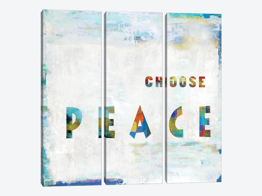 Choose Peace In Color by Jamie MacDowell 3-piece Canvas Print