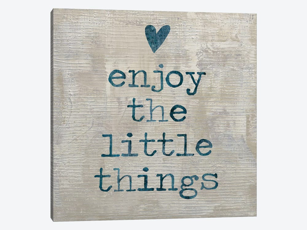 Enjoy The little things I by Janie Macdowell 1-piece Canvas Wall Art