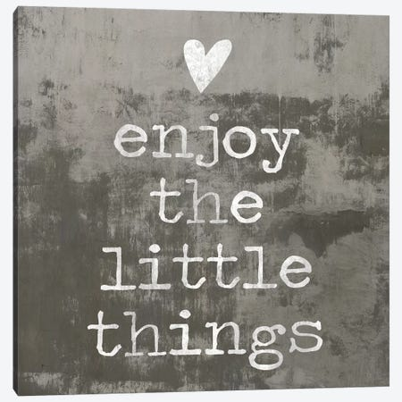 Enjoy The little things II Canvas Print #DWL19} by Janie Macdowell Canvas Artwork