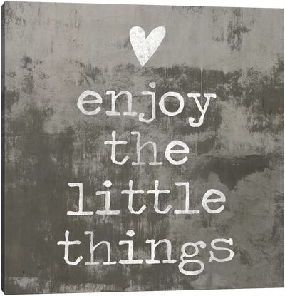 Enjoy The little things II Canvas Art Print