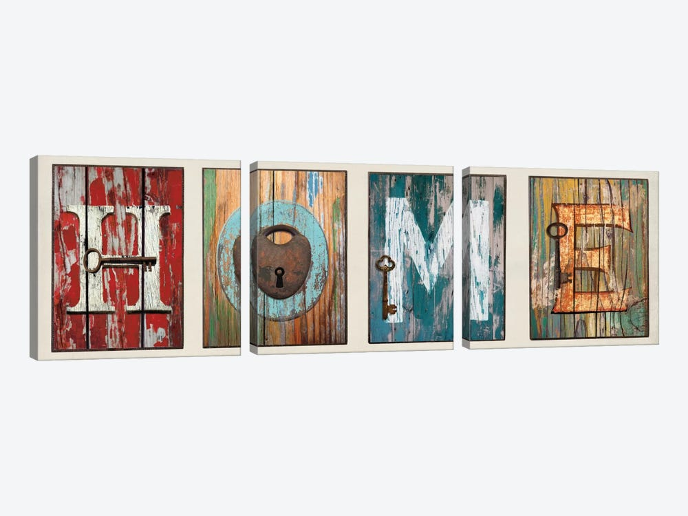 HOME by Janie Macdowell 3-piece Canvas Artwork