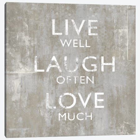 Live Well Canvas Print #DWL22} by Janie Macdowell Canvas Art Print