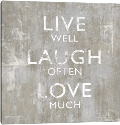 Live Well Canvas Art Print