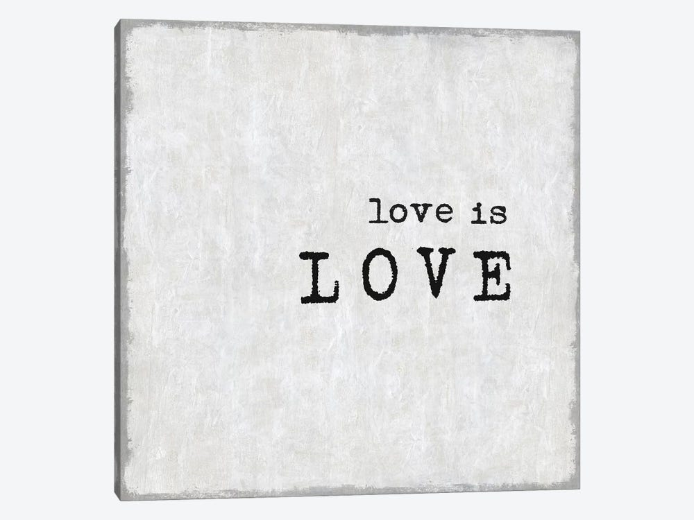 Love Is Love by Janie Macdowell 1-piece Canvas Print