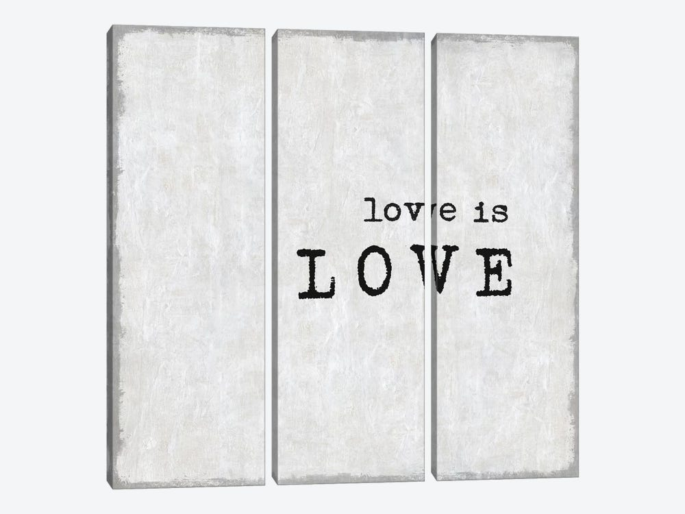 Love Is Love by Janie Macdowell 3-piece Canvas Art Print