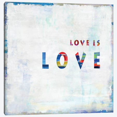 Love Is Love In Color Canvas Print #DWL25} by Janie Macdowell Canvas Art