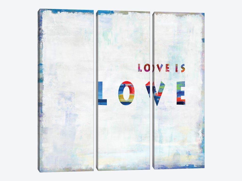 Love Is Love In Color by Janie Macdowell 3-piece Canvas Wall Art