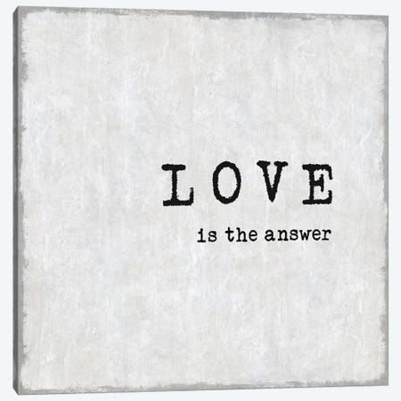 Love Is The Answer Canvas Print #DWL26} by Janie Macdowell Canvas Art