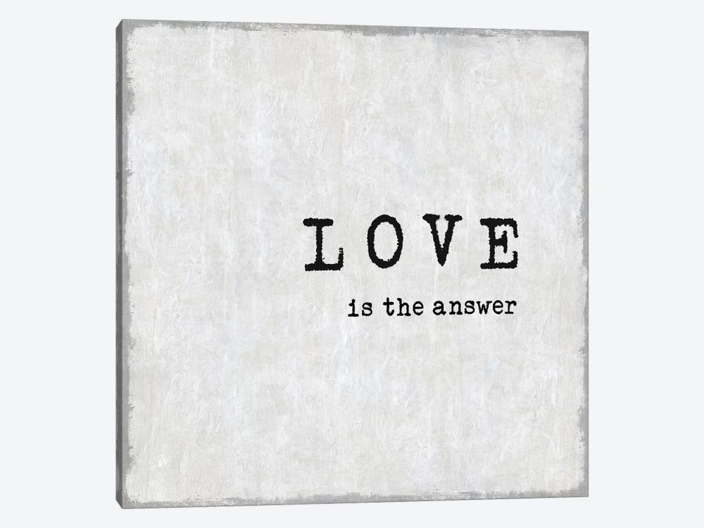 Love Is The Answer by Janie Macdowell 1-piece Canvas Art Print