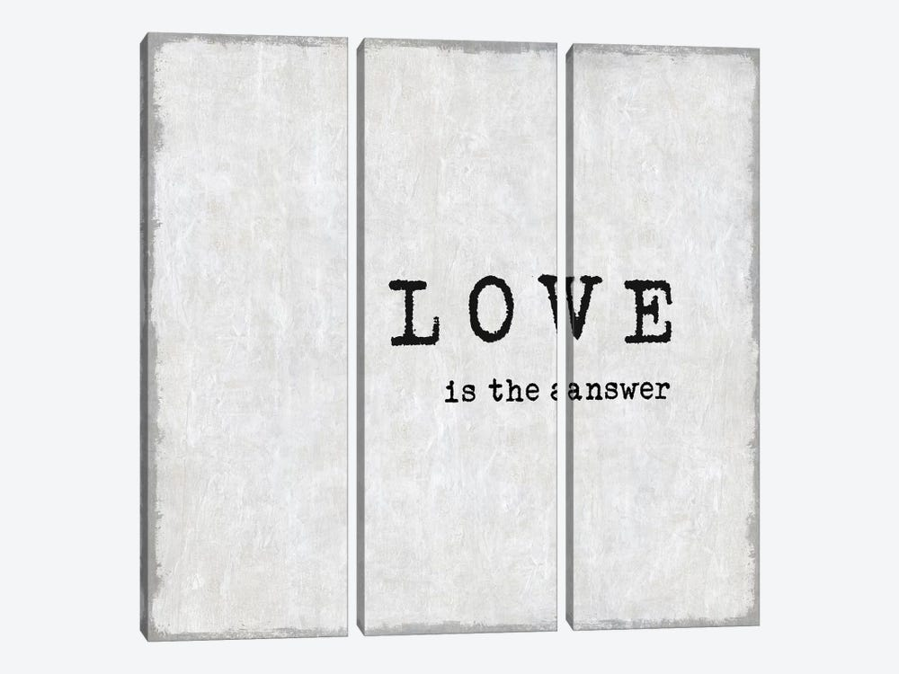Love Is The Answer by Janie Macdowell 3-piece Art Print