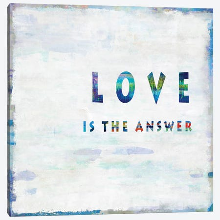 Love Is The Answer In Color Canvas Print #DWL27} by Janie Macdowell Canvas Artwork