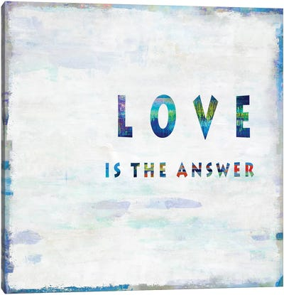 Love Is The Answer In Color Canvas Art Print
