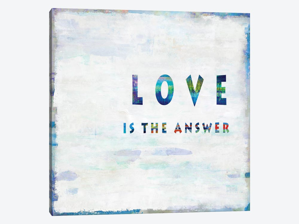 Love Is The Answer In Color 1-piece Canvas Wall Art