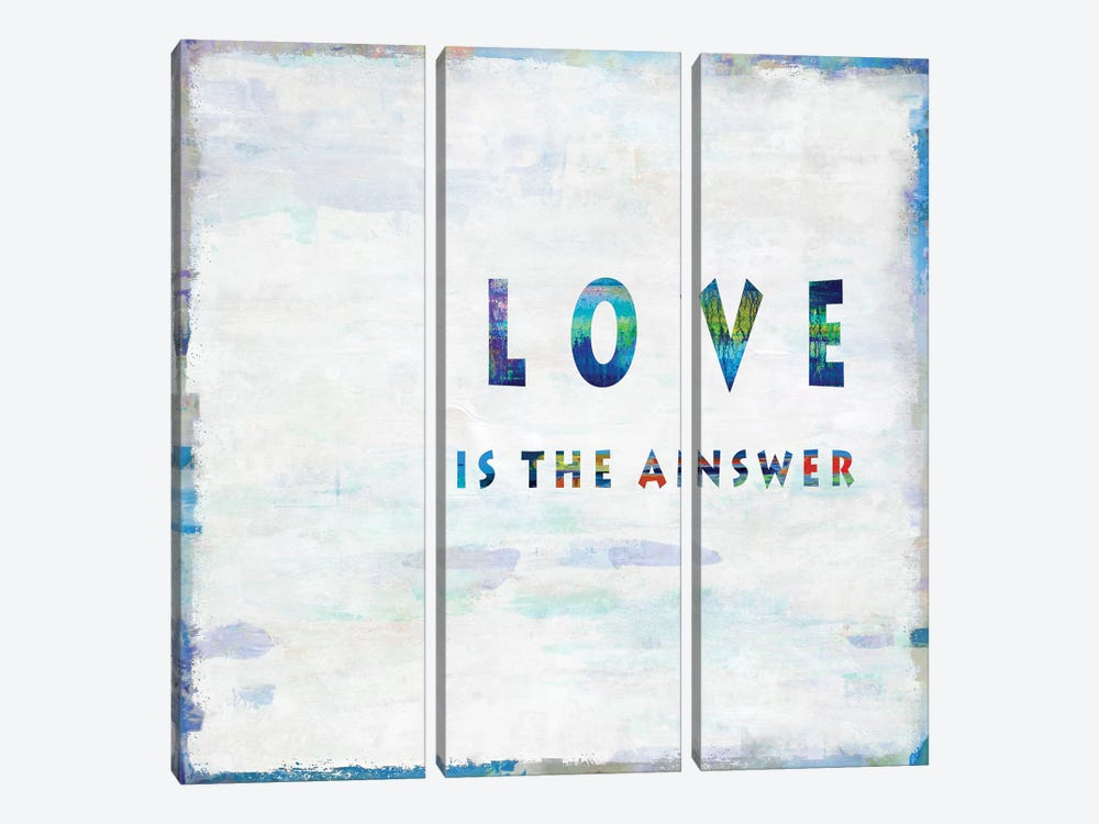 Love Is The Answer In Color by Janie Macdowell 3-piece Canvas Artwork
