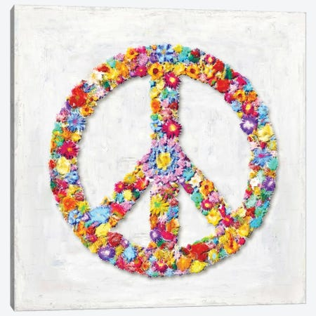 Peace Sign Canvas Print #DWL30} by Janie Macdowell Canvas Wall Art